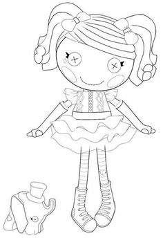 Pillow Featherbed From Lalaloopsy Coloring Page : Color ...