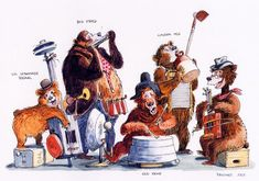Marc Davis - country bear jamboree (my fav, curses it that the original is gone from Disneyland)