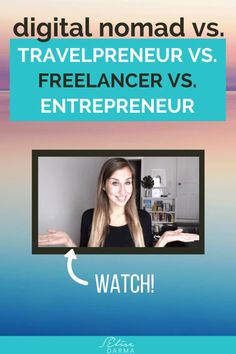 Digital nomad vs freelancer vs entrepreneur - what's the difference? Digital nomad vs freelancer vs entrepreneur - what's the difference? Work Travel, Traveling By Yourself, How To Become, Blogging, Travel Careers, Travel Jobs, Online Business, Craft Business, Writing