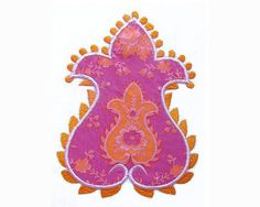 Stephanie Paisley Flower Power Machine Embroidery Design - from OOP (out of print) fabric - Jennifer Paganelli of Sis Boom - Pretty Please