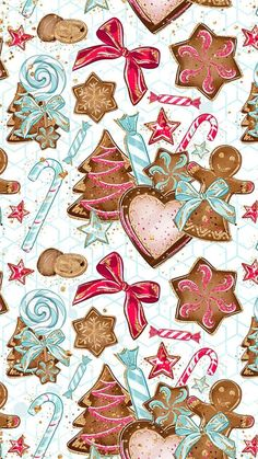 54 ideas for wall paper winter iphone pattern print Noel Christmas, Christmas Paper, Winter Christmas, Vintage Christmas, Christmas Crafts, Christmas Decorations, Christmas Wreaths, Christmas Phone Wallpaper, Holiday Wallpaper