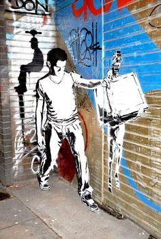 Live Painted Models Blend Seamlessly into Graffiti Background - My Modern Metropolis