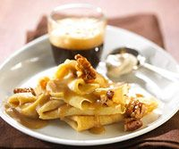 Caramel Apple Crepes Rediscover how easy these tender, thin pancakes are to mix and cook. Serve with sweet or savory fillings and toppings. Brunch Dishes, Breakfast Dishes, Brunch Recipes, Fall Recipes, Brunch Ideas, Breakfast Recipes, Breakfast Time, Quick Recipes, Breakfast Ideas