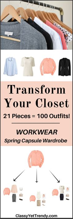 """IS YOUR CLOSET FULL OF CLOTHES, BUT YOU """"HAVE NOTHING TO WEAR TO WORK""""? YOU NEED… The Workwear Capsule Wardrobe e-Book: Spring 2017 Collection! A complete workwear capsule wardrobe guide for the Spring season, perfect for the office! With all clothes and shoes selected for you PLUS, 100 outfit ideas..."""