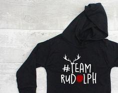 Christmas T-Shirt - #TeamRudolph Hoody Tee - Christmas Jumper - Christmas - Funny T-Shirt - Kids T-shirt - Toddler T-Shirt - Team Rudolph