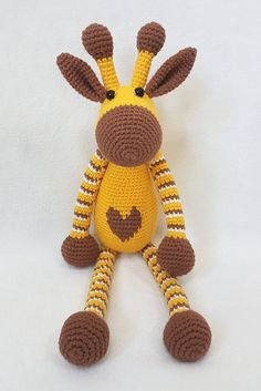 crochet amigurumi design Free pattern for this cute crochet amigurumi giraffe.There is so much to love about crochet Amigurumi, and this Hearty Girraffe is certainly one to love. Try this desginer focus pattern from AmigurumiToday.I looooooove amigurumi, Crochet Giraffe Pattern, Crochet Amigurumi Free Patterns, Crochet Dolls, Knitting Patterns, Amigurumi Tutorial, Giraffe Toy, Cute Giraffe, Cute Crochet, Crochet Baby