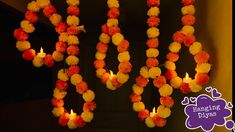 Diy Diwali Decorations, Festival Decorations, Ganpati Decoration Theme, Diwali Candles, Diwali Diy, Hanging Paintings, Diy Gift Box, Designer Dresses, Festive