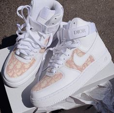 Dior AirForce 1 Low & Mid custom Made by Hype Shoes, Buy Shoes, Me Too Shoes, Women's Shoes, Aldo Shoes, Shoes Style, Jordan Shoes Girls, Girls Shoes, Ladies Shoes