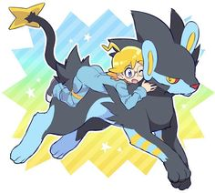 Clemont and his Luxray ♡ I give good credit to whoever made this