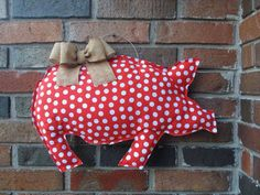 Arkansas Wreath Red and White Polka Dot Hog by PaintedBoutique