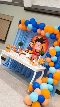 Goku Birthday, Naruto Birthday, Dragon Birthday, 1st Boy Birthday, Baby Girl Shower Themes, Baby Shower Decorations For Boys, Baby Shower Fun, Ball Birthday Parties, Birthday Party Decorations