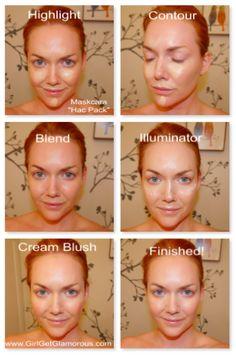 Natural Looking Contour with the Maskcara IID Foundation + Blush + Illuminator   GirlGetGlamorous.com