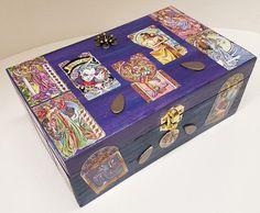 Tarot Box Art Nouveau Custom Tarot Handmade Tarot Wooden