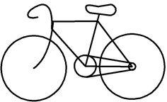 colour it, etc. bike. stitch it
