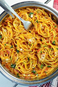 Vegan One Pot Spaghetti - skip oil