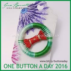 Day 354.... For those who just started in this group. Gina is presenting her handmade buttons daily on FACEBOOK. #buttonlovers