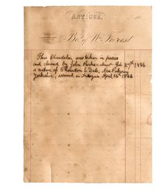 Copy of the letter found in the Antigua chandelier Letter Find, Founded In, Sheet Music, Restoration, Chandelier, Antigua, Haus, Chandeliers, Light House