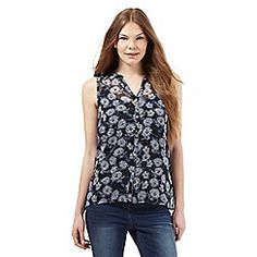 RJR.John Rocha - Navy floral print sleeveless top