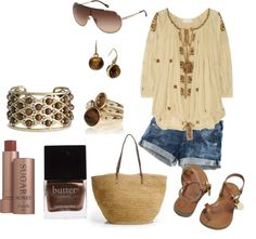 """""""Brown and Tan"""" by michelled2711 on Polyvore"""