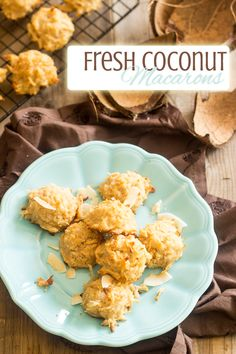 Fresh Coconut Macarons | thehealthyfoodie.com gluten free, dairy free