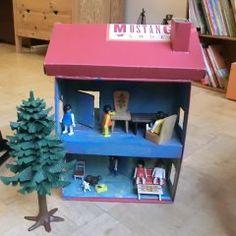 Puppenhaus aus Schuhkarton