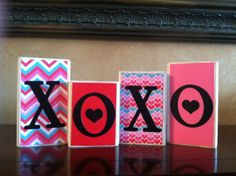 Wood XOXO blocks  Wood love valentines day by WoodnExpressions, $15.00