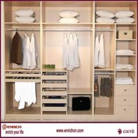 Glamour polyresin wardrobe clothes closet with doors dressing room robe
