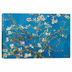 Bring gallery-worthy style to your decor with this lovely canvas print, depicting a reproduction of Vincent van Gogh's Almond Blossom.   Product: Canvas printConstruction Material: Cotton canvas and woodFeatures: Ready to hang