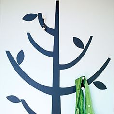 Great for dress up and school supplies! A tree wall decal coat rack. Tree Coat Rack, Coat Tree, Architecture Design, Backyard Cottage, Modern Cottage, Craft Storage, Tree Wall, Prefab, Modern Decor