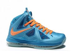 Nike LeBron 10 China Edition   Style Code:541100-800  The LeBron 10 China comes in a a neptune blue upper with total orange accents including the tongue tag, laces, and Nike branding.We can find the diamond designs on swoosh, midsole and more. The Hyperfuse and Flywire technologies make the shoe much more breathable, stable and lightweight. The Full-length nike zoom unit provides impact protection, cushioning and quick-cut responsiveness.