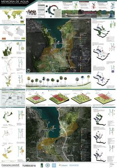 View full picture gallery of Memoria De Agua - ConvivE XI Landscape Architecture Design, Architecture Board, Architecture Visualization, Landscape Plans, Landscape Architects, Singapore Architecture, Project Presentation, Presentation Layout, Presentation Boards