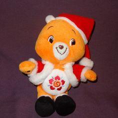 """Amigo Bear Santa Claus Care Bears Stuffed Plush Animal 9"""" 2007 Christmas Orange #CareBears #Christmas"""