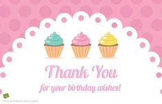 Saying thank you for the birthday wishes you received can be a tradition many people forget or choose to skip. Whether you want a custom message for each person, or you're looking for a single idea to inspire your mass thank you campaign, we hope these great examples help you. Thank You For Birthday Wishes, Birthday Greetings For Facebook, Thank You Wishes, Birthday Cheers, Birthday Wishes Quotes, Birthday Messages, Happy Birthday Cards Images, Cool Birthday Cards, Birthday Stuff