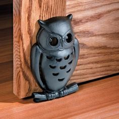 New Decorative Black Cast Iron Retro-look Owl Doorstop w/ Cut-out Detailing Owl Home Decor, Owls Decor, Owl Doorstop, Owl Kitchen, Kitchen Ideas, Owl Crafts, Owl Patterns, Wise Owl, Door Stop