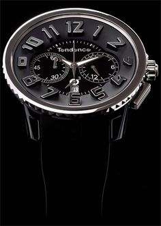 Tendence Black/Silver Chronograph - Cool Watches from Watchismo.com