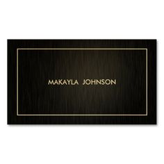 Modern and Minimal Professional Black and Gold Business Card. This is a fully customizable business card and available on several paper types for your needs. You can upload your own image or use the image as is. Just click this template to get started!