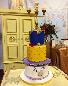 Beauty and the Beast cake by @sweetbrantleyscakes