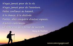 Vie, Aventure, Hasard, Destinée, Espaces...