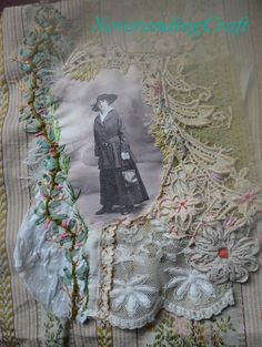 Broderie Rococo / Victorian Embroidery, http://www.neverendingcraft.canalblog.com NeverendingCraft