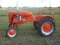 Early version of the Allis-Chalmers model B tractor.  This tractor was very popular with the small farmer.
