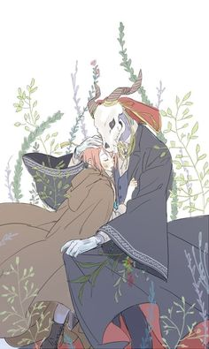 Elias and Chise (The Ancient Magus' Bride - 魔法使いの嫁) Me Anime, Anime Manga, Anime Art, Manga Romance, Original Anime, Chise Hatori, Elias Ainsworth, The Garden Of Words, Tamako Love Story