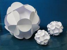 sliceform - papercraft - kusudama - flowerball - tutorial -dutchpapergirl - YouTube