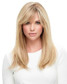 Powerful, elegant and versatile, this long style is a natural knockout. Hand tied with a monofilament cap, the remy human hair is heat-stylable in any direction. SPECIFICATIONS: Monofilament, Hand Tied | Hair Type: Human Hair | Headsize: Average | Weight: 5.8 ozs. | Crown: 17"