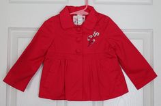 EUC Sergent Major French Boutique Pink Jacket Coat Toddler Girl 2 2T 2Y Pleated