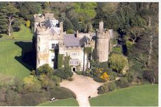 View from above of Malahide Castle