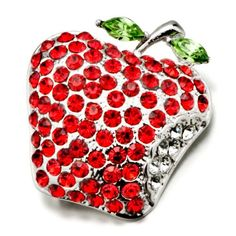$29.99 Use a brooch to accessorize your favorite outfit or spice up apparel that just needs some extra kick. The Pugster July birthstone with green leaf apple Brooch is apple. This Pugster brooch is perfect to give a fun, artistic flair to whatever it is that you are wearing. Pugster created each brooch for people who love high quality handcrafted jewelry with a price that is sure to make you smile...