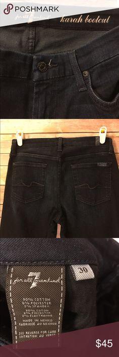 7 For All Mankind size:30 7 For All Mankind size:30 gently worn- deep dark blue 7 For All Mankind Jeans Boot Cut