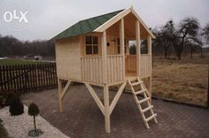 Domek dla dzieci z drewna, drewniane domki do zabawy, plac zabaw Nysa - image 8