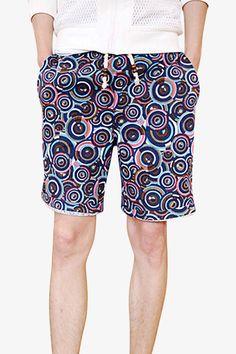 Men's Bermuda Colorful Print Shorts