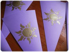 Easy Bunting for Tangled Party - with Golden sun motif (stencil)